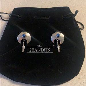NWT silver & turquiose Native American earrings
